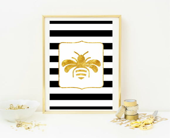 Poster A4 Bee Gold