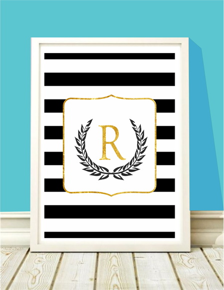 Poster A4 Monogram Gold