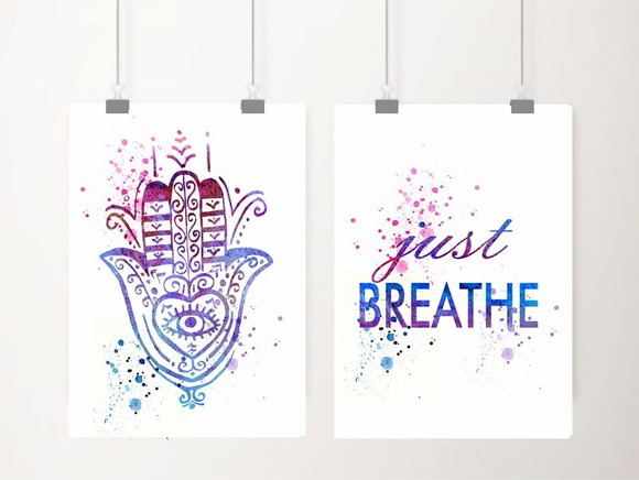 Poster A4 Just Breathe c/ 02 unidades