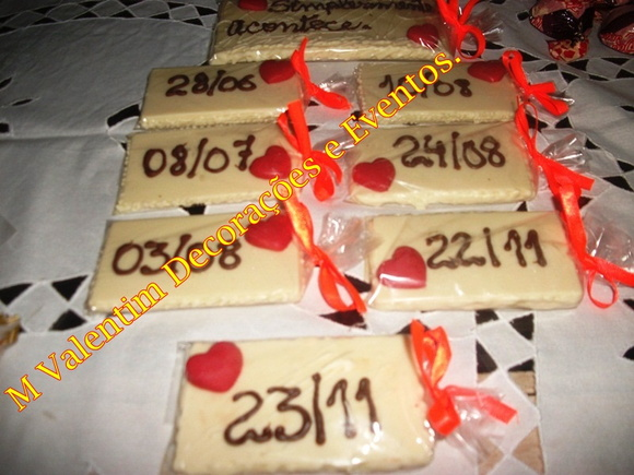 Barrinhas de chocolate personalizada