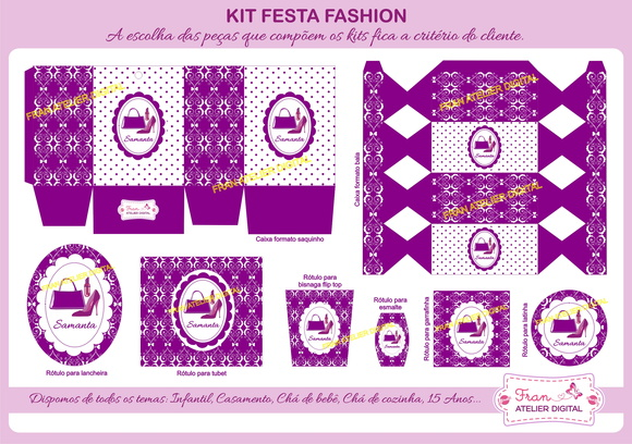 Kit Digital Festa Fashion
