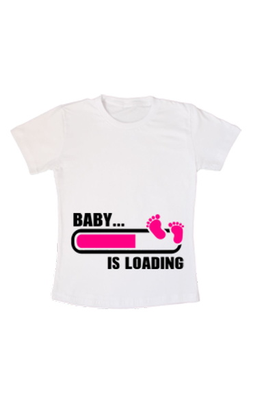 Camiseta Baby is Loading( Grávida )