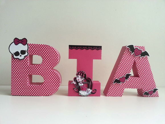 Letras 3D Monster High - Pink