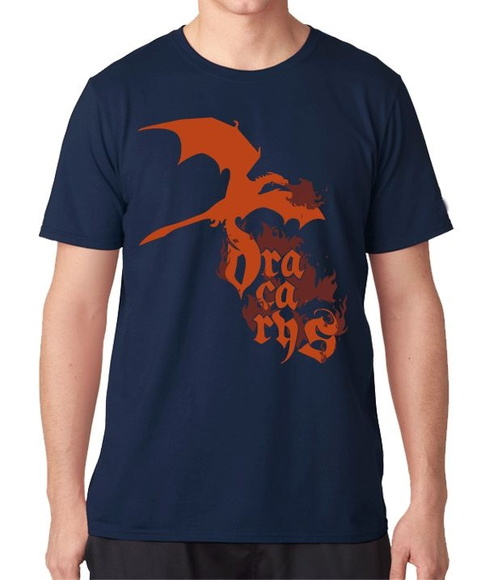 CAMISETA MASCULINA-GAMES THRONES-DRACARY