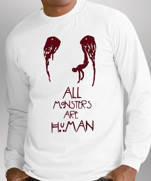 * CAMISETA LONGA - HORROR STORY- MONSTER