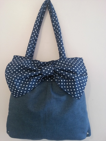 Bolsa Jeans Denim Top Petit Poà