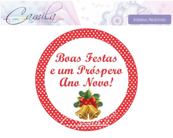 Adesivo De Flamingo ~ Adesivo Redondo Natal Camila Arte& Design Elo7