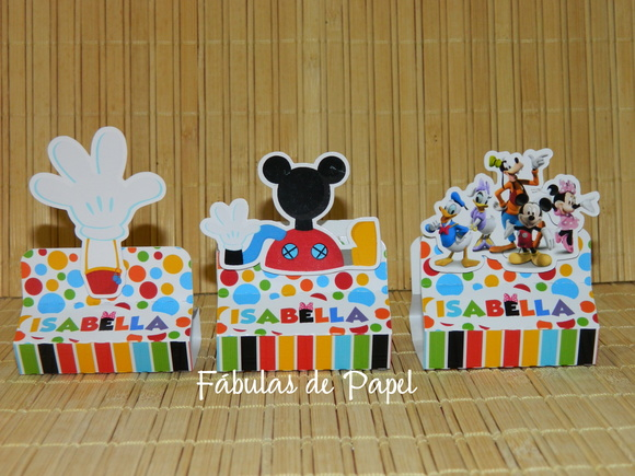 Porta Chocolate Duplo Casa do Mickey