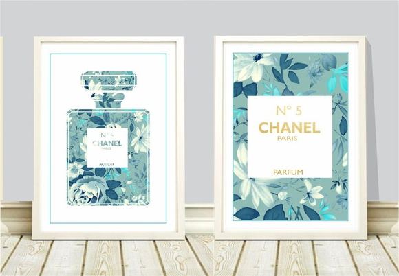 Poster A4 Chanel nº 5 floral c/ 2 unid