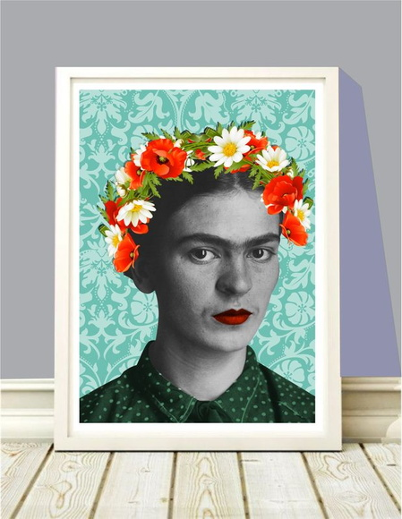 Poster A4 Frida Flowers