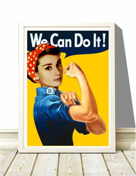 Poster A4 Audrey We Can Do It