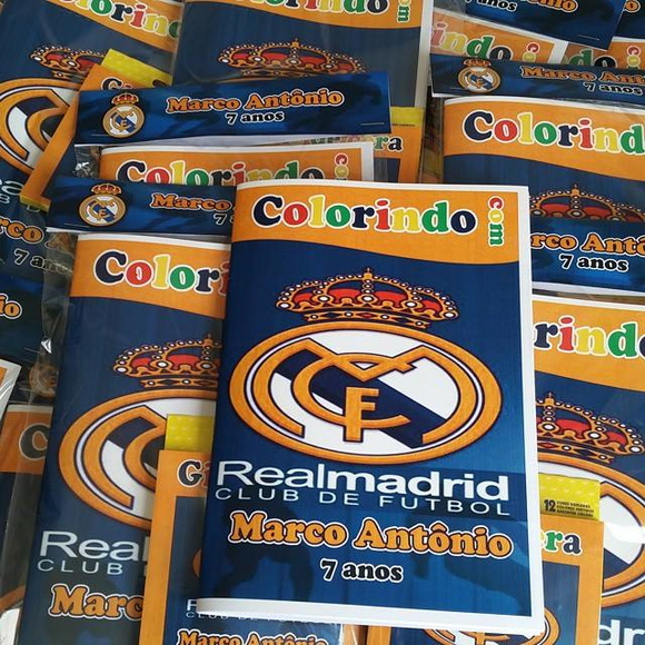 Kit Colorir - Real Madrid