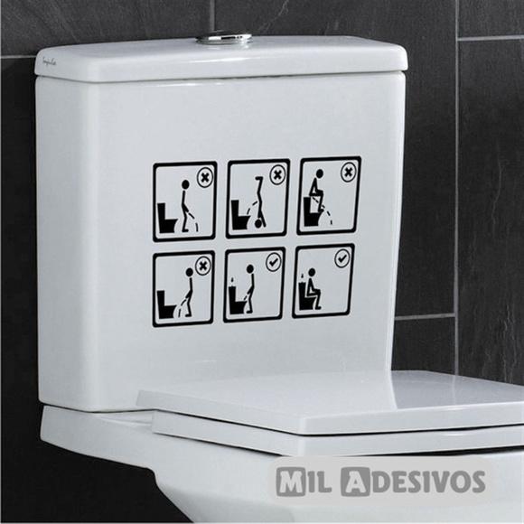 Adesivo De Desentupir Vaso ~ Adesivo p banheiro como usar o vaso 5 ANOS DE GARANTIA Elo7