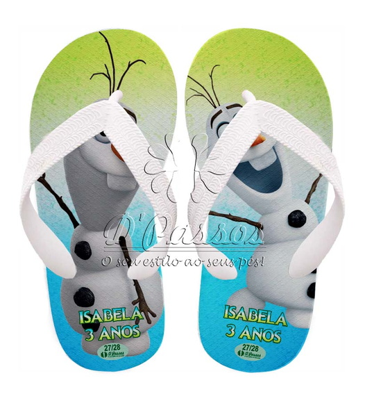 Chinelo Frozen Fever - Olaf 02