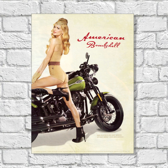 Placa Decorativa Motos American
