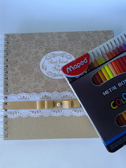 KIT COLORIR + ESTOJO 24 CORES MAPED