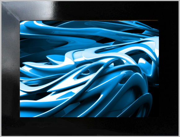 QUADRO DECORATIVO - ABSTRATO NEON 5