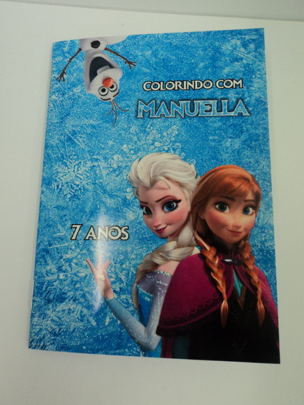 Revistinha de colorir - Frozen