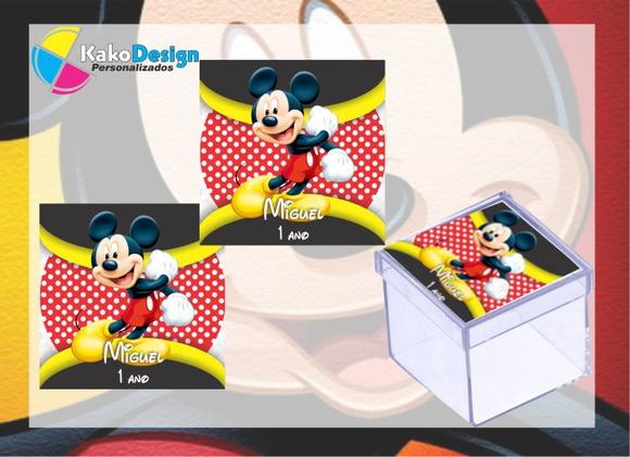 Feira Artesanal Vila Do Conde ~ Adesivo para Caixa de acrílico Mickey no Elo7 Kako Design Personalizados (51BF65)