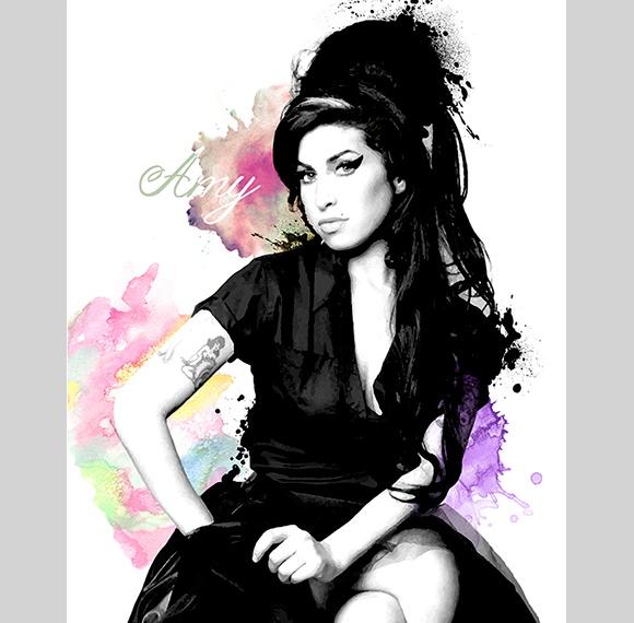 Poster Amy Winehouse no Elo7