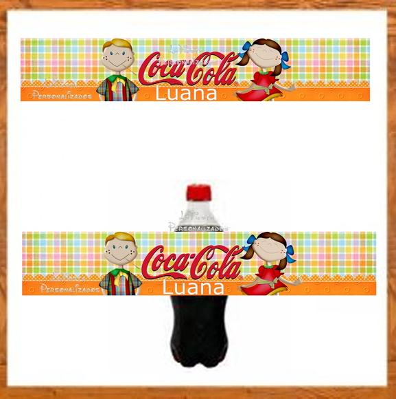 Armario Aberto Banheiro ~ Rótulo Coca Cola Festa Junina no Elo7 LaFiesta Personalizado (5232FA)