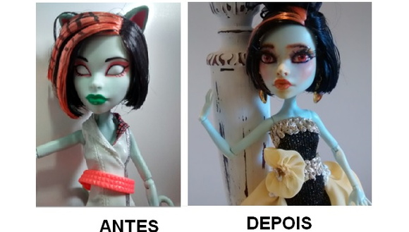 Monster High Customizada - LIQUIDANDO