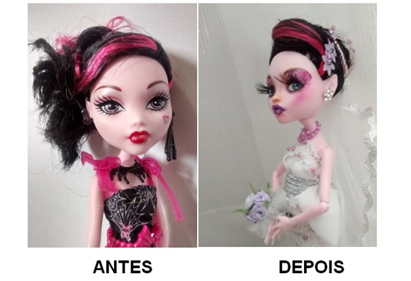 Monster High Customizada Noiva LIQUIDA