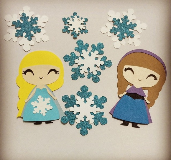 Frozen - recortes scrapbook