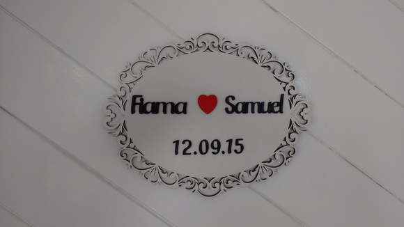 Placa Pré Wedding