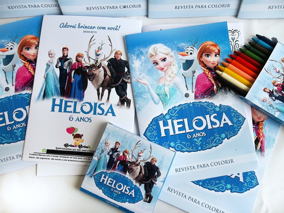 Kit Frozen para colorir