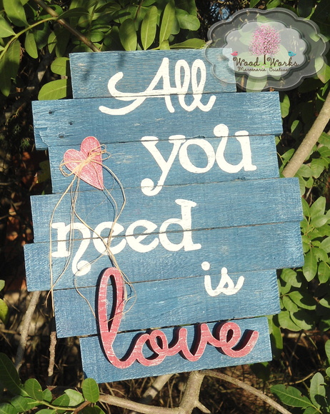 "Placa ""All you need"" - 15% OFF"