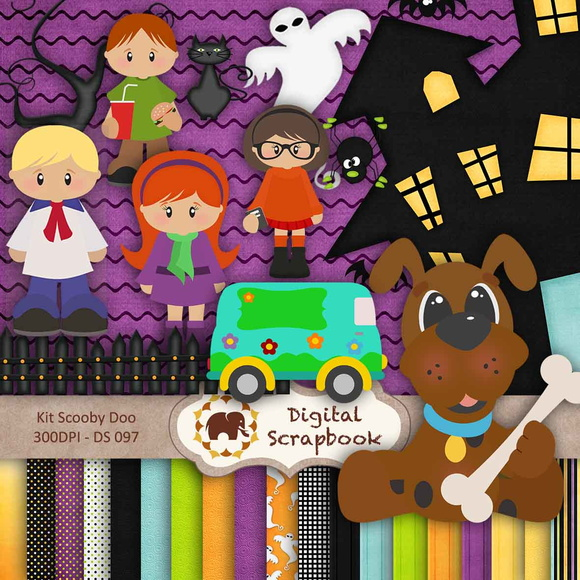 Kit Scrap Digital - Scooby Doo