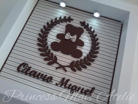 Enfeite De Trigo ~ ENFEITE DE MATERNIDADE COM URSO E COROA Princess Mavi Ateli u00ea Elo7
