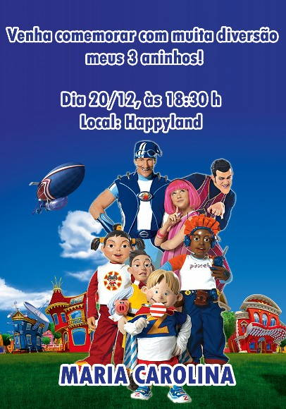 Convite Lazy Town