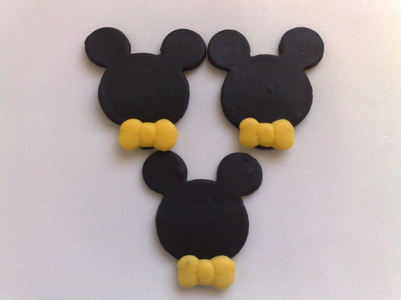 Apliques do Mickey em Biscuit