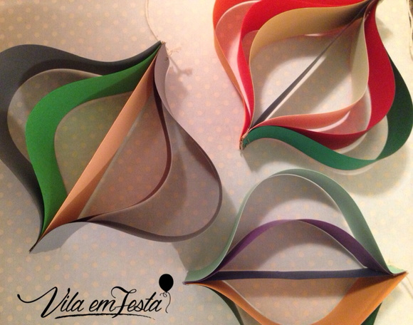 Balao de Papel Elo7 -> Decoração De Balões Festa Junina