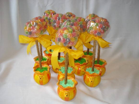Centro de mesa árvore temática urso Pooh  Doce Sonho Festas  Elo7