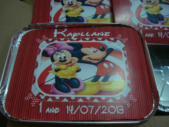 Rotulo para Marmita Minnie e Mickey