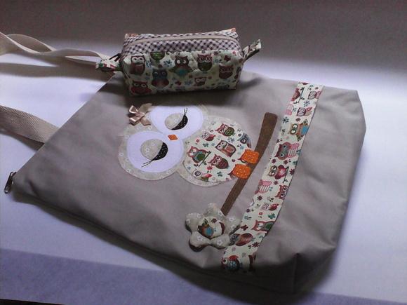 Bolsa De Tecido Com Ziper : Bolsa de tecido coruja celeiro da arte elo