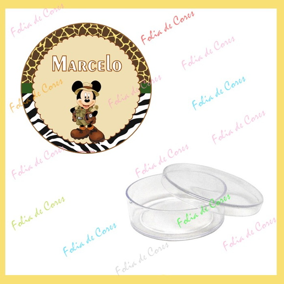 Latinha personalizada Safari Mickey