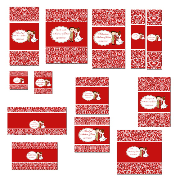 Kit Banheiro Casamento Moldes Dourado : Kit toillet vermelho e branco arabescos lia fernandes