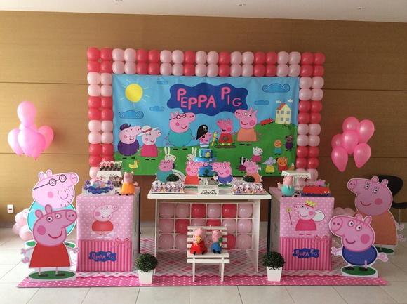 Decoraç u00e3o de Festa Infantil Peppa pig Adriana Aparecida do Nascimento Elo7