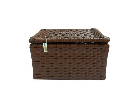Loja Artesanato Indiano ~ Caixa Fibra Sintética Argila 41x33x25 Matheus Artesanato