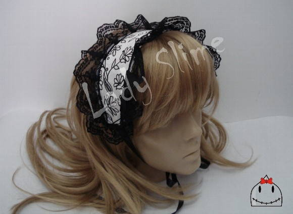 Headdress Lolita P&B