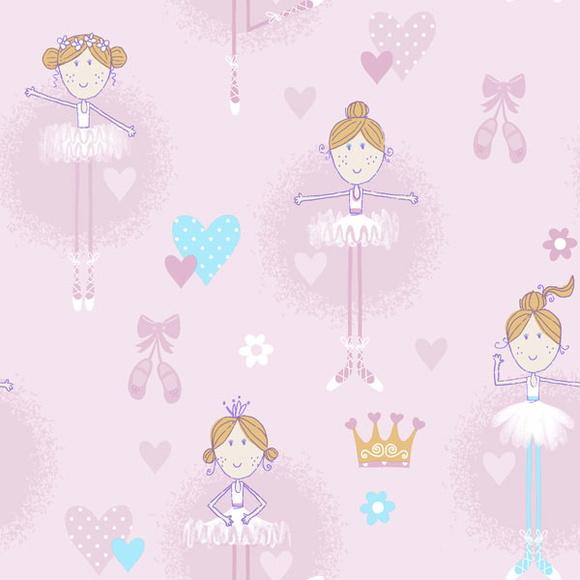 Papel de parede bailarina rosa no elo7 thaty baby 567b16 - Papel infantil para paredes ...