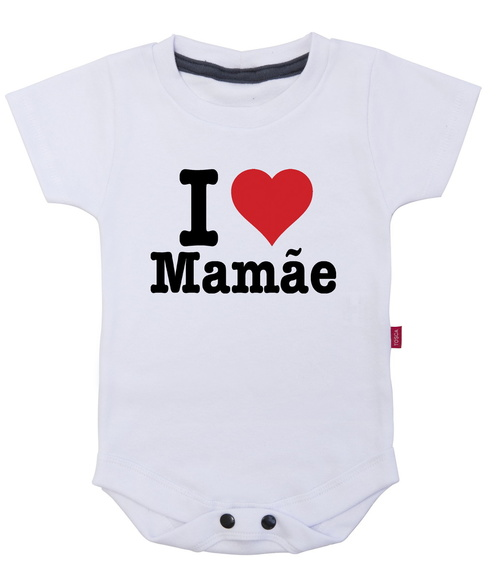 Body Infantil i love mamãe