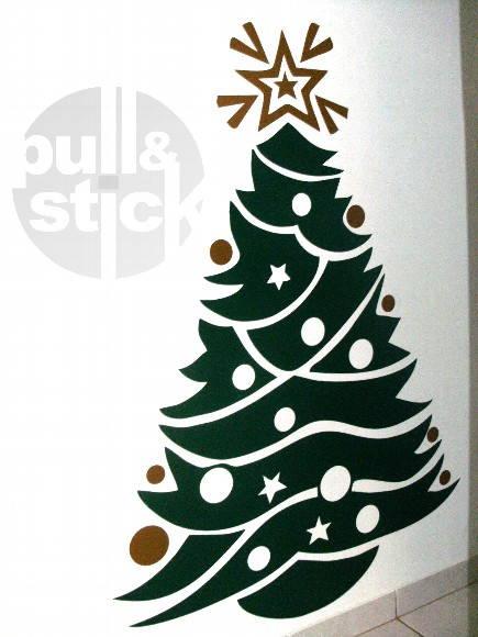 Artesanato Alentejo ~ Adesivo Arvore de Natal no Elo7 PullStick Adesivos e Papelaria Personalizada (7BDC1)