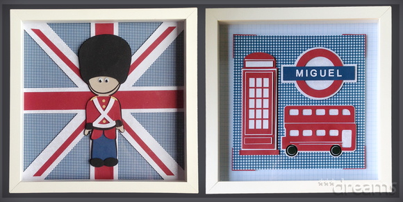 Kit com 2 quadros London