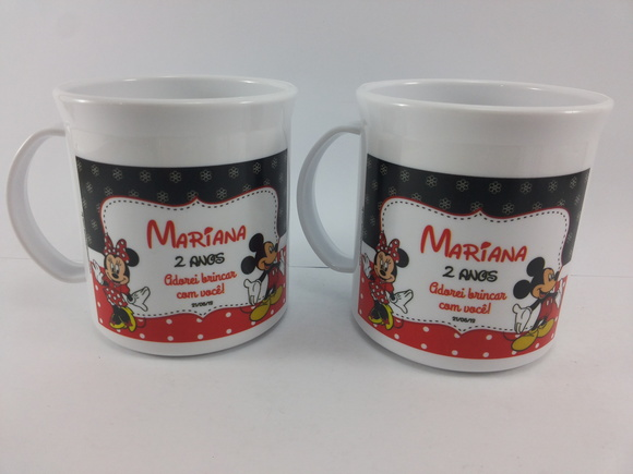 Caneca Plastica Minnie Mickey