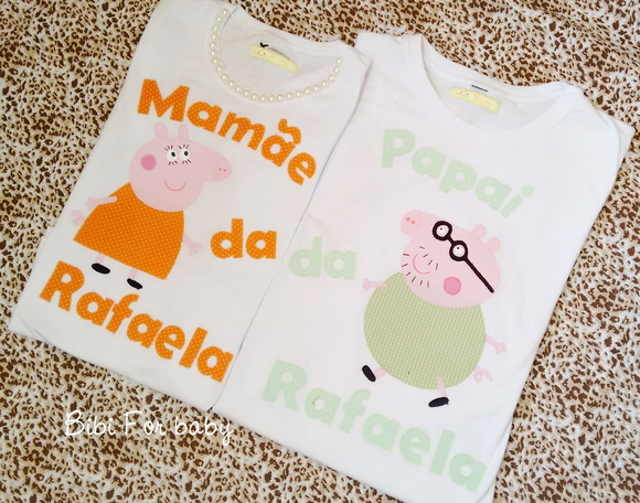 kit Camisetas papai e mamãe Peppa Pig